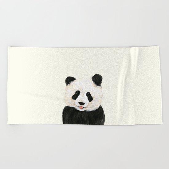naughty little panda Beach Towel