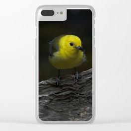 Yellow Songbird Clear iPhone Case