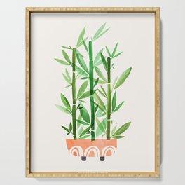 Happy Bamboo Houseplant Serving Tray