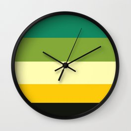 Bumble Bee In A Tree Colorful Stripes Wall Clock
