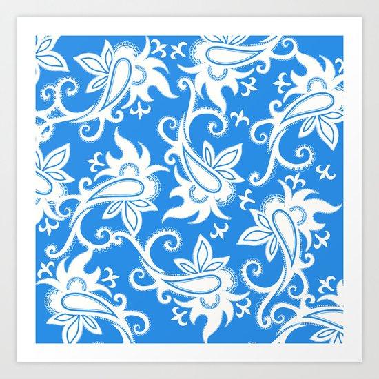 Paisley: Blue Combo Art Print