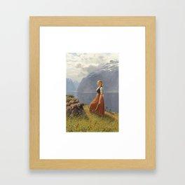 Hans Dahl 1849 - 1937 NORWEGIAN DEN UNGE SLÅTTEKAREN (THE YOUNG HARVESTER) Framed Art Print