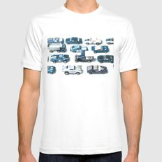 Its A Parking Lot Out There... Blue Mens Fitted Tee MEDIUM White