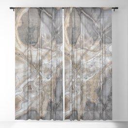 Petrified wood 3264 Sheer Curtain
