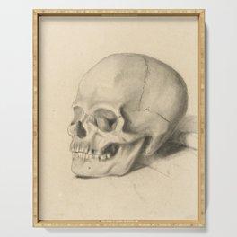 Vintage Skull Illustration Serving Tray