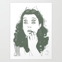 dorothy Art Prints featuring Dorothy by Prints_by_Gabriel