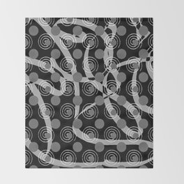 Love Laces black Throw Blanket