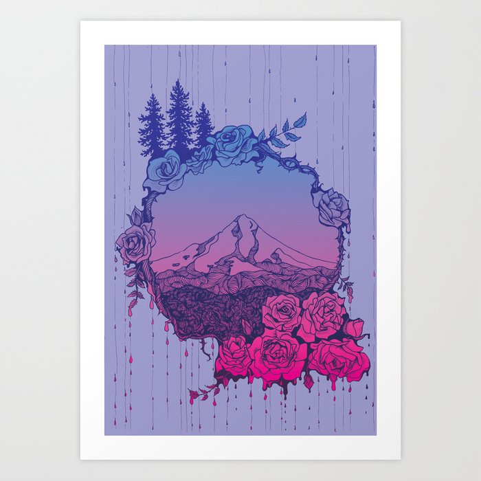 Rose City (Purple) Kunstdrucke