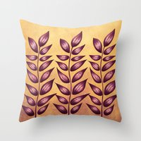Abstract Plant With Purple Leaves Throw Pillow