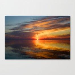 Serene Sunrise Over the Lake Canvas Print