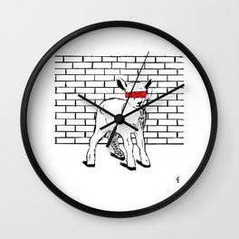 Brave Little Lamb Wall Clock