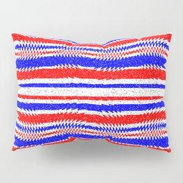 Red White Blue Waving Lines Pillow Sham