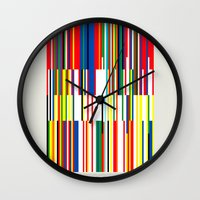 the national Wall Clocks featuring National Colors by Tom Davie