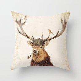 Thinking Wild Throw Pillow