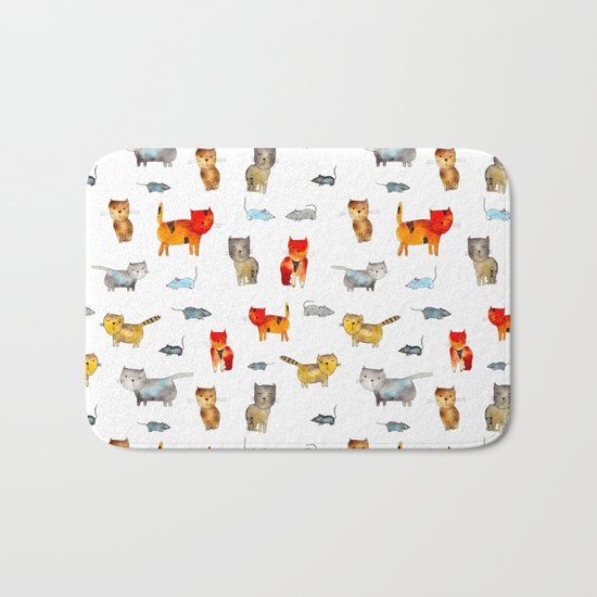 'Cat and mouse' pattern Bath Mat