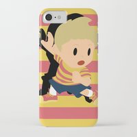 smash bros iPhone & iPod Cases featuring Lucas Super Smash Bros by jeice27