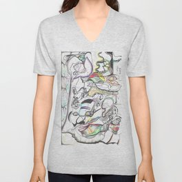 In Two Minds 1  Unisex V-Neck