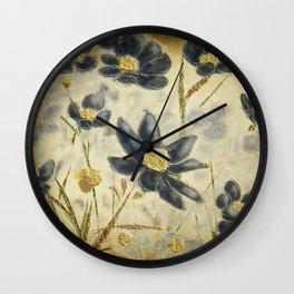 Blue Daisies Wall Clock