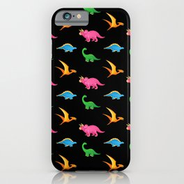 COLORFUL DINOSAURS iPhone Case