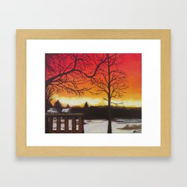 Home of Beautiful Sunsets Framed Art Print