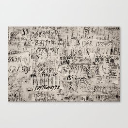 numbers. Canvas Print
