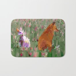 The hare and the fox Bath Mat