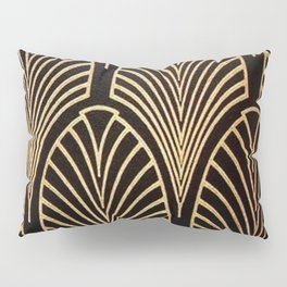 Art nouveau Black,bronze,gold,art deco,vintage,elegant,chic,belle époque Pillow Sham