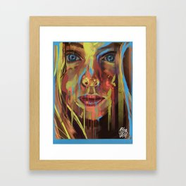 What are you drawing Ryan? // 153 Framed Art Print