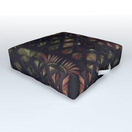 Tropical Latticework Pattern Outdoor Floor Cushion