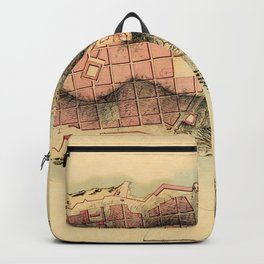 Map Of Montevideo 1808 Backpack