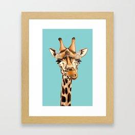 Giraffe Acrylic Painting Framed Art Print