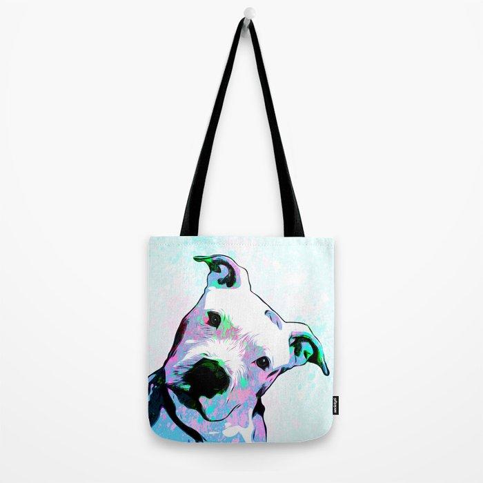Pit bull - Puzzled - Pop Art Tote Bag