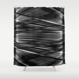 Light beams pattern Shower Curtain