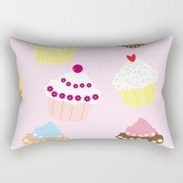 I Love Cupcakes Rectangular Pillow