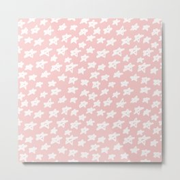 Stars on pink background Metal Print