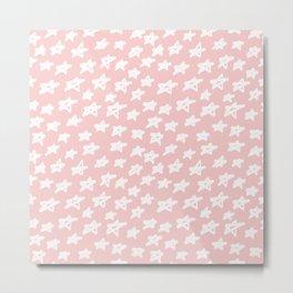 Stars on pink background Metal Print
