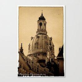 Blick auf die Frauenkirche in Dresden Canvas Print