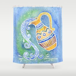 Zodiac Collection: Aquarius Shower Curtain