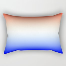 Red White and Blue Merging Gradient Pattern Rectangular Pillow