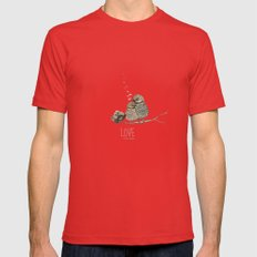 LOVE Mens Fitted Tee Red SMALL