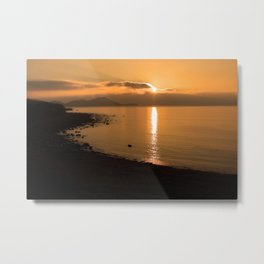 Sunset On A Western Shore Metal Print