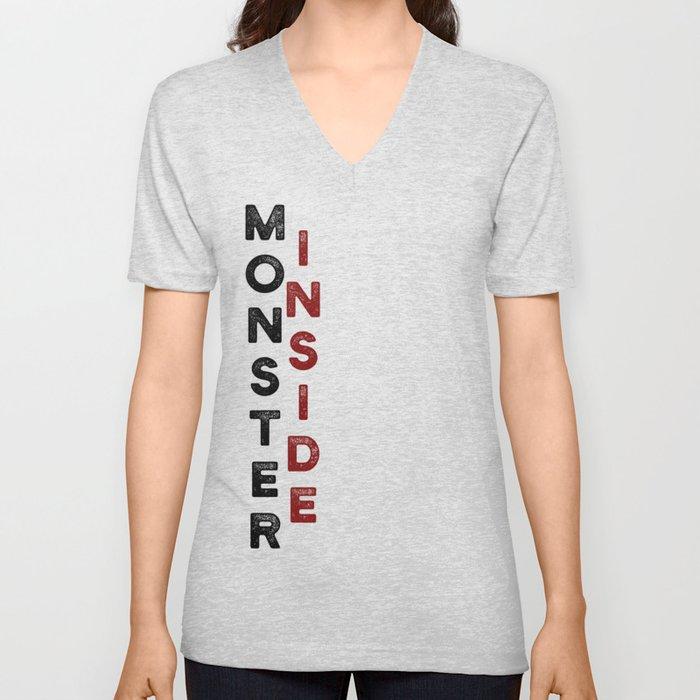 Monster Inside Unisex V-Neck