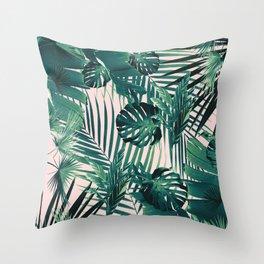 Tropical Jungle Leaves Siesta #2 #tropical #decor #art #society6 Throw Pillow