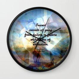Winston Churchill Motivational SUCCESS QUOTE Wall Clock