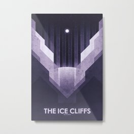 Dione - The Ice Cliffs Metal Print