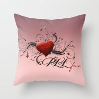 pretty little liars Throw Pillows featuring Pretty Little Liars fan heart by MaNia Creations
