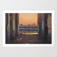 Framed Philly Skyline Art Print