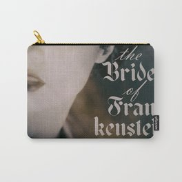 The Bride of Frankenstein, vintage movie poster, Boris Karloff cult horror Carry-All Pouch