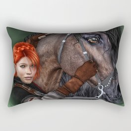 Red Hair Rectangular Pillow