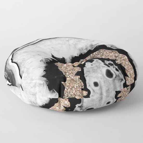 Gray Black White Agate with Gold Glitter #1 #gem #decor #art #society6 by anitabellajantz